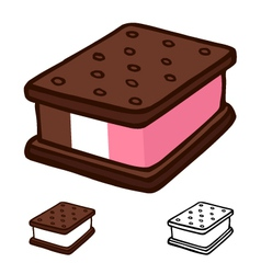 Ice cream sandwich vector