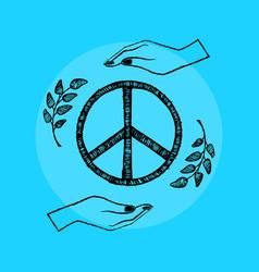 International peace day on vector
