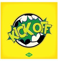 Kick off football match vector
