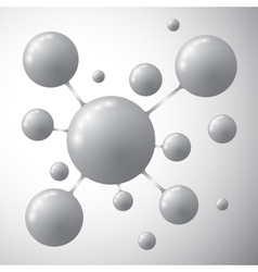 Molecule on a gray background vector