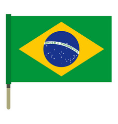 National flag of brazil icon isolated vector