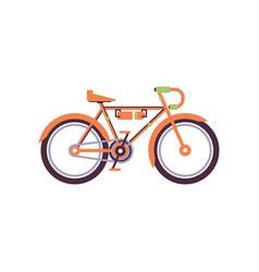 Orange trekking bike modern bicycle vector