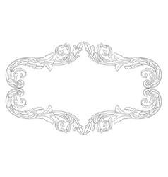 ornament vintage baroque vector image vector image