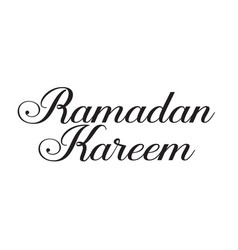 Ramadan kareem text design vector