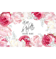 Rose tulip perfume banner vector