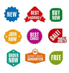 set of advertising and promotion colored banners vector image