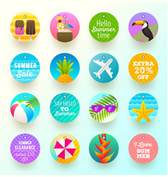 set of summer vacation and travel labels and tags vector image vector image