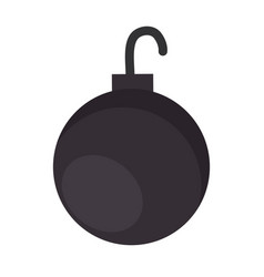 shackle ball isolated icon vector image vector image