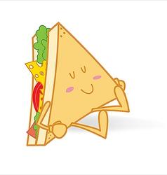 Sleeping cute sandwich vector image