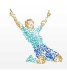 success finish winner athlete abstraction vector image