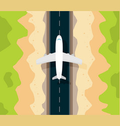 travel in a flat styleworld travel bannerair vector image vector image