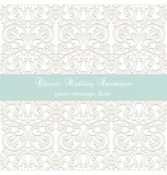 Wedding Lace card vector image