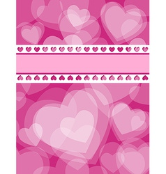 White transparent hearts love card vector image vector image