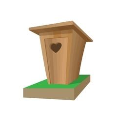 Wooden toilet cartoon icon vector