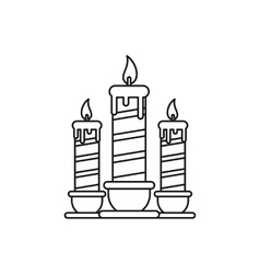 Festive candles icon outline style vector
