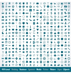400 various icons symbols and design elements vector image
