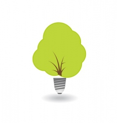 ecology tree combined with bulb vector image