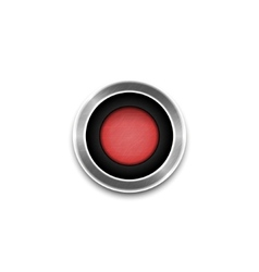 Red button isolated vector