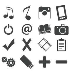 Simple black icon set 5 vector