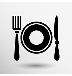 Restaurant menu symbol such logo food cafe vector