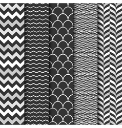seamless geometric patterns vector image