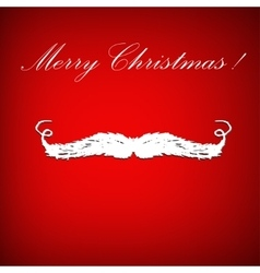 Santa claus mustache and congratulation vector