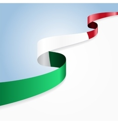 Italian flag background vector