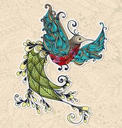 Bird phoenix spring vector