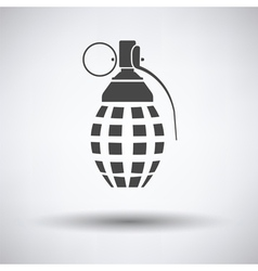 Defensive grenade icon vector