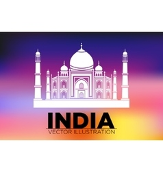 Taj mahal agra india vector
