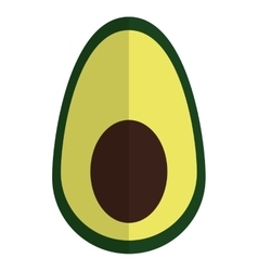 Half avocado icon vector