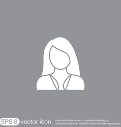 A female avatar girl Avatar of a woman with long vector image vector image