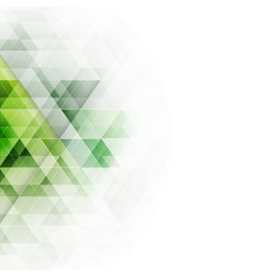 Abstract green triangles geometric background vector