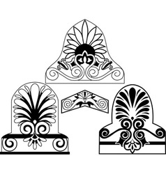 architectural stencil vector image vector image