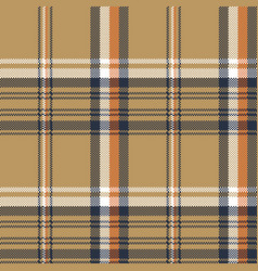 Beige check plaid tartan pixel seamless pattern vector