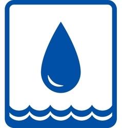 Big water drop and wave vector