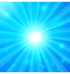 Blue shining light background vector image