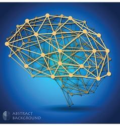 Brain shape abstract geometric background vector