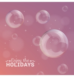 bubbles on a colorful background vector image vector image