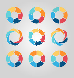 Business circle infographics set vector