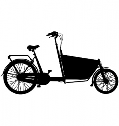cargo bicycle vector image vector image