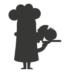chef character man icon vector image