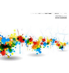 colour splash poster vector image vector image