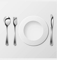 cutlery with gradients vector image vector image