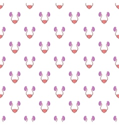 Ear membranes pattern cartoon style vector