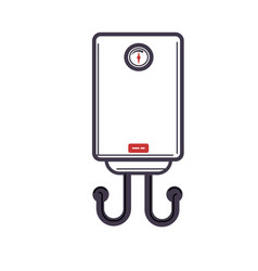 electric water heater or boiler cartoon style on vector image
