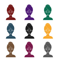 facial mask icon in black style isolated on white vector image vector image