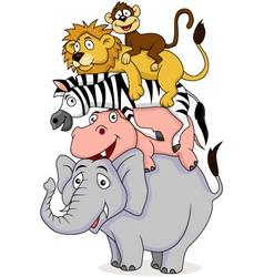 Funny animal vector image