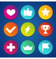 gamification badges vector image vector image