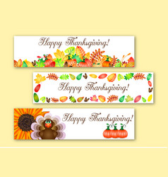 greeting banners for thanksgiving vector image